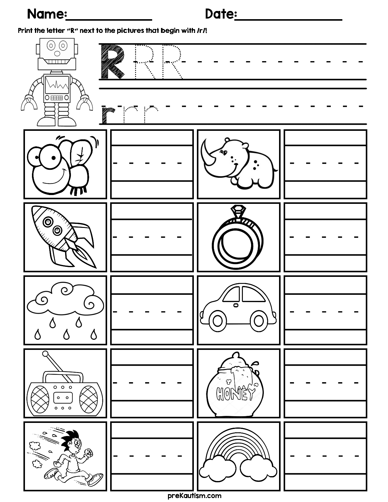 Initial Consonant Practice Worksheets Worksheets