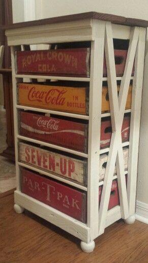 Coke Crate Craft Chest Coke Crate Ideas Old Coke Crates Crate