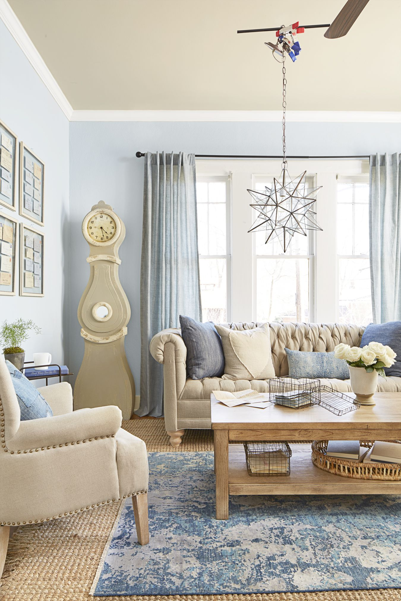 29 Design Ideas Inspired By Classic Country Music Songs Blue Living Room Decor Blue Grey Living Room Blue Living Room