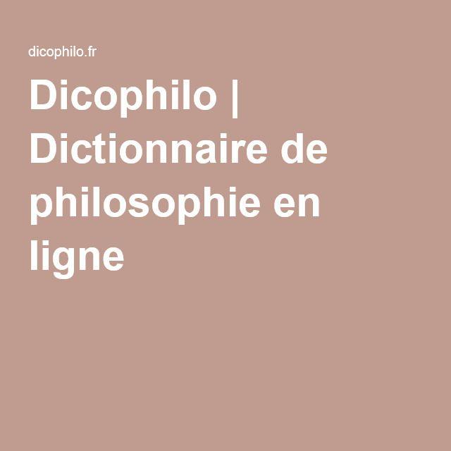 Dictionnaire gratuit des sujets de dissertation philosophique