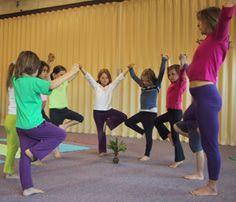 yoga statue freeze game  yoga  nurturing children  yoga