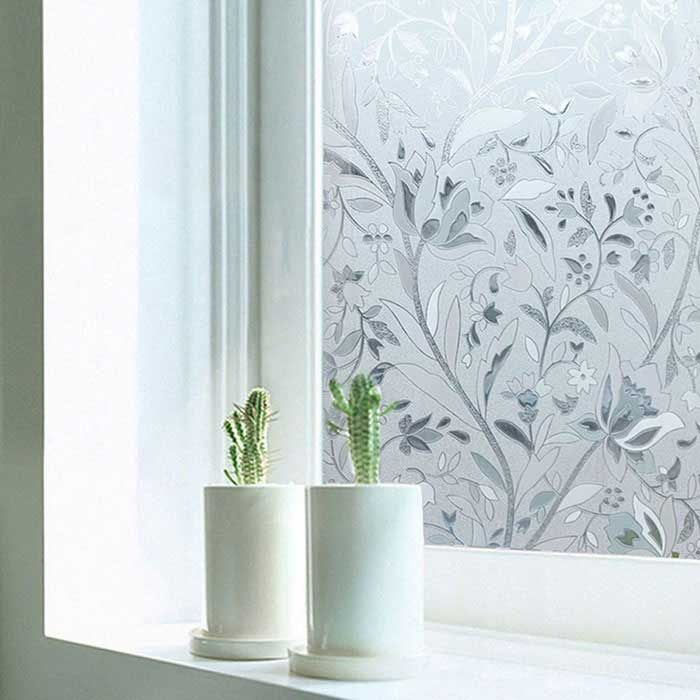 Non adhesive frosted window film static cling privacy window cover sticker for bthroom office shop