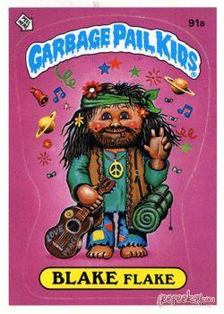 Lpb 091 Blake Flake Hippy Viti Garbage Pail Kids Garbage Pail Kids Cards Pail