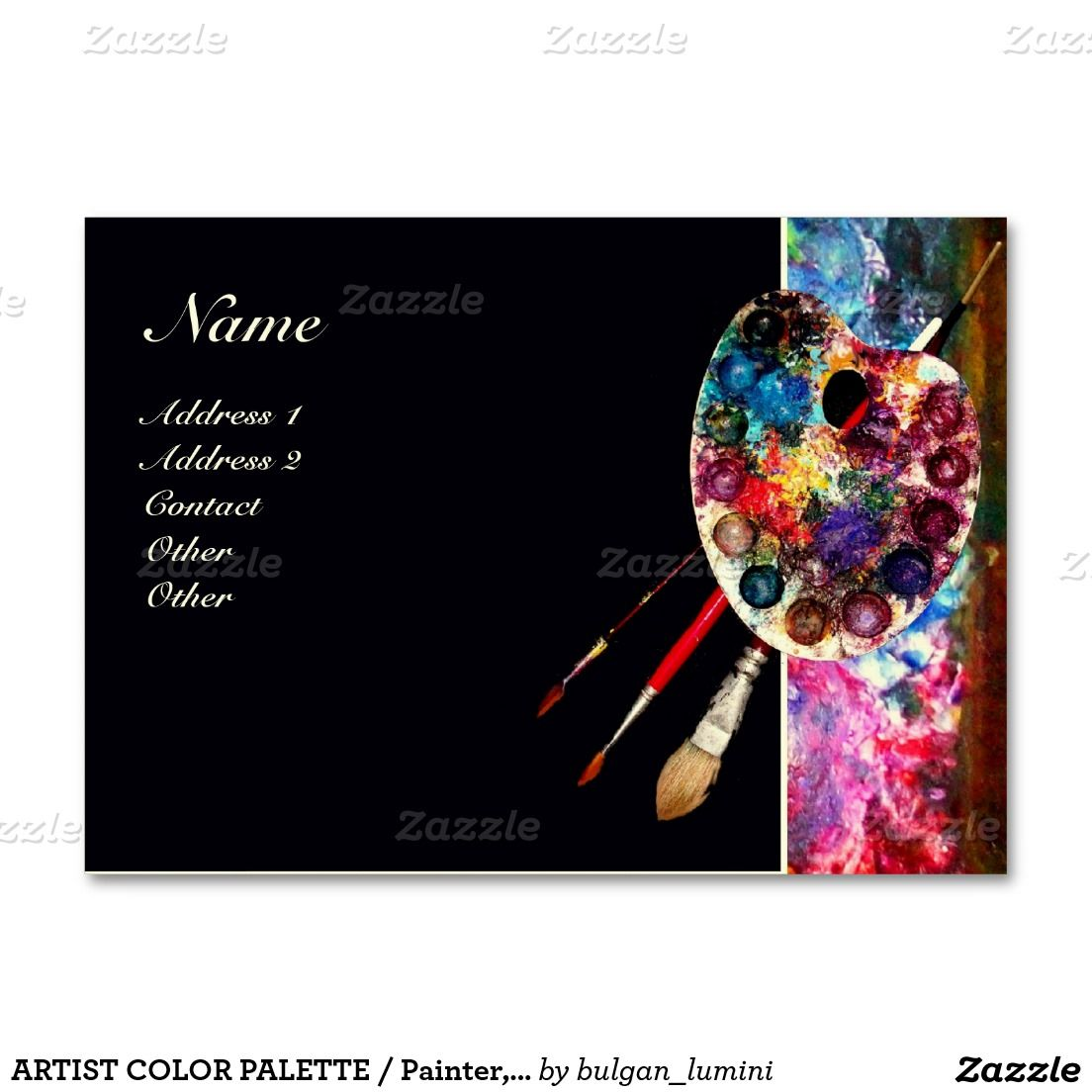 ARTIST COLOR PALETTE / Painter,Fine Art Materials Business Card ...