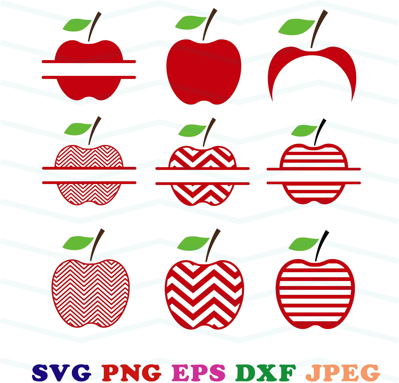 apple svg, apple monogram svg, apple chevron svg, school