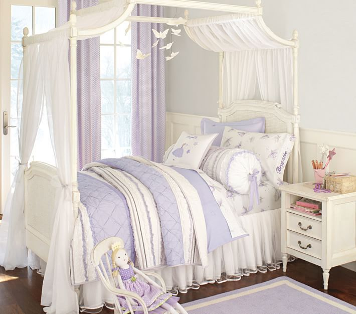 Brigette Ruffle Quilt in 2019 | Little girl canopy bed ...