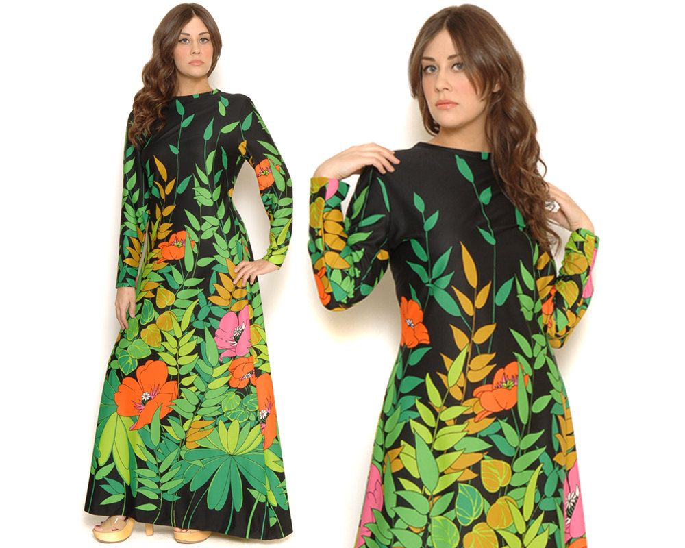 Reserved s floral maxi dress vibrant garden party leaf print