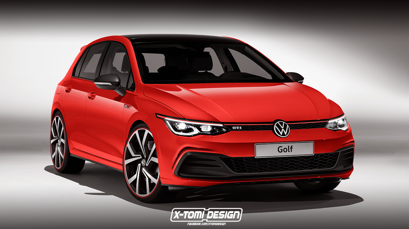 Volkswagen Golf 8 Gti Rendered Golf Gti Volkswagen Golf Vw Golf