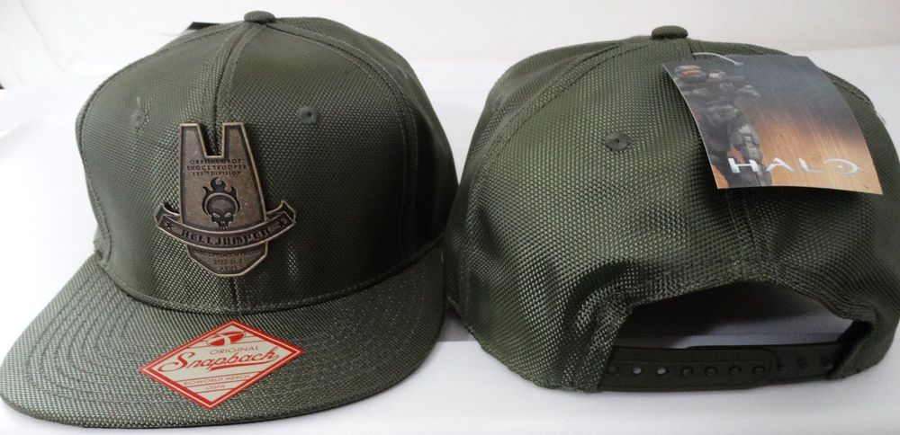 Halo Helljumper Deploy Orbital Drop Shocktrooper 105th Div Snap Back Hat Nwt   Halo  BaseballCap 96fcd4a7645d