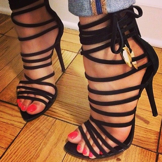 03bdb3e5e84 ZKshoes summer women's fashion black high heel Gladiator sandals EU ...