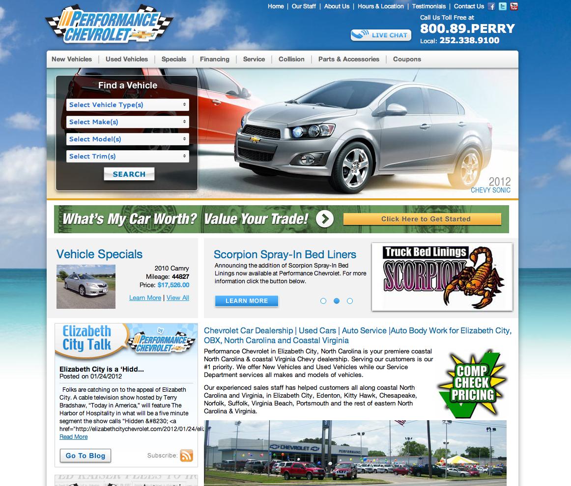 Marvelous Performance Chevrolet, Perry Auto Group, Elizabeth City, North Carolina