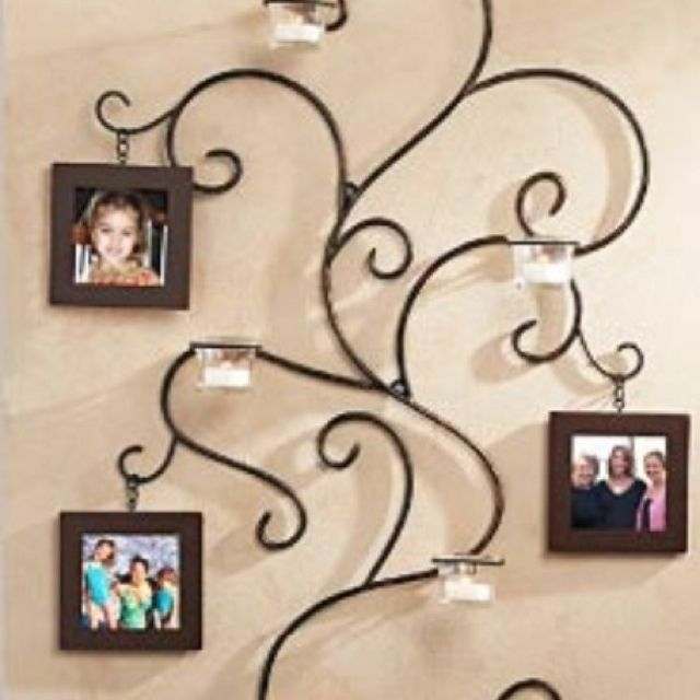 Rod Iron Family Tree Decor With Images Wrought Iron Wall Decor