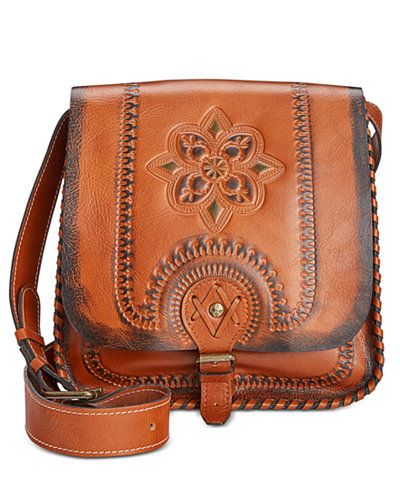 Patricia Nash Painted Tooled Barletta Messenger Bag