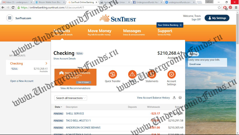 UnderGroundFunds | Bank Logins | Hacked Bank Logins