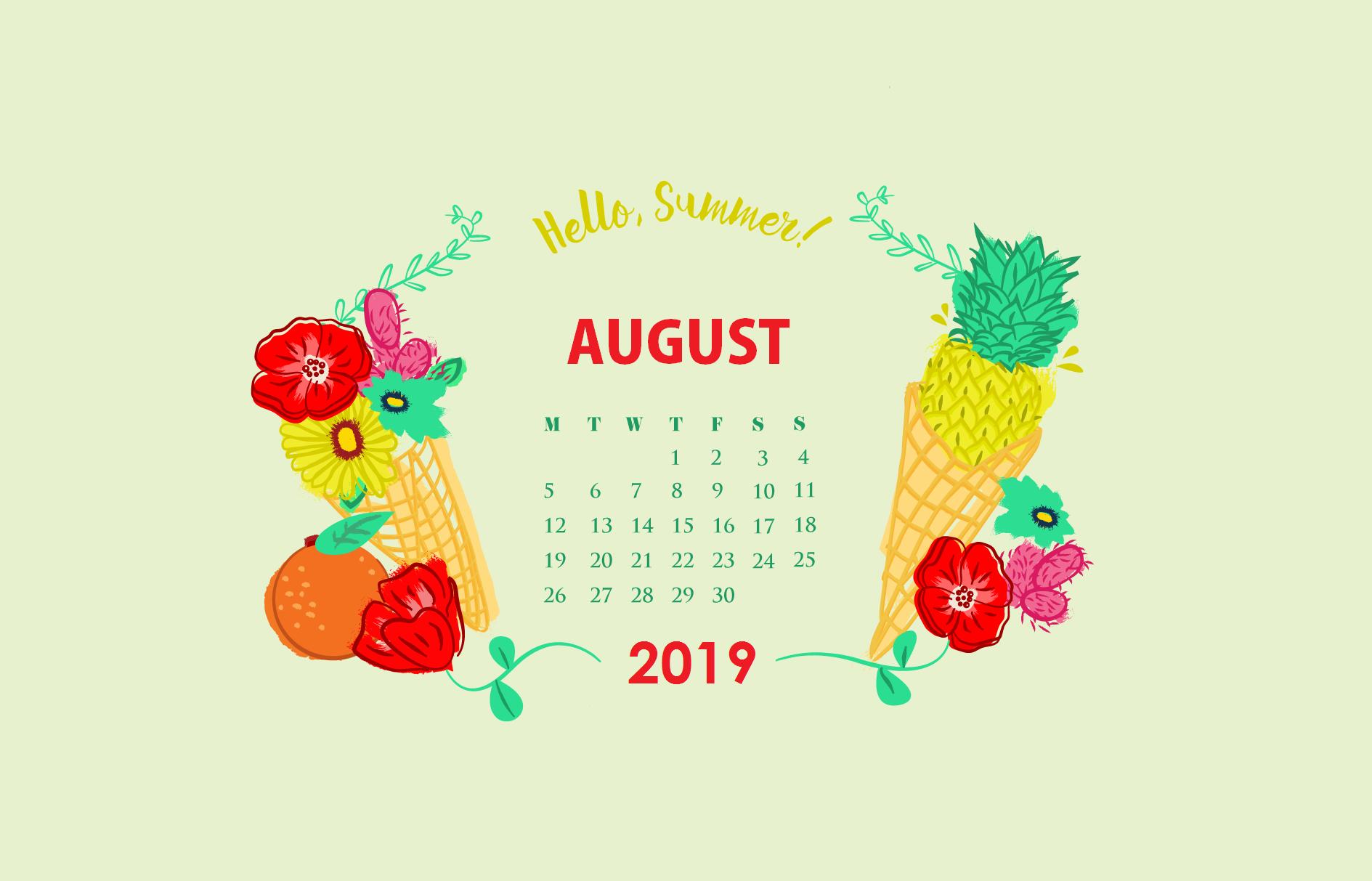 August 2019 Desktop Background Wallpaper