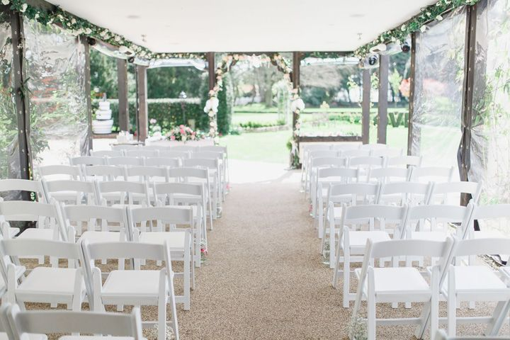 Wedding ceremony under marquee | fabmood.com #wedding #marqueewedding