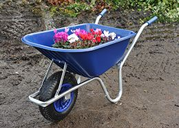 A King Among Wheelbarrows Probably The Most Highly Regarded Wheelbarrow Design In The Uk Perfect Size Perfect Balance With Images Wheelbarrow Longer Life Garden Tools