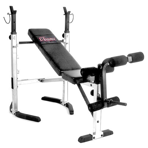 Xodus Folding Flat Incline Olympic Bench Set Weight Benches No Equipment Workout Incline Decline Bench