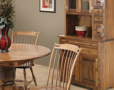 create an empire of your own using our gorgeously handcrafted and fully customizable empire dining set
