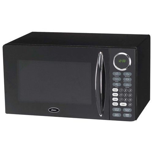 Oster 0 9 Cu Ft Compact Microwave Black Countertop Microwave Black Microwave Oster Microwave