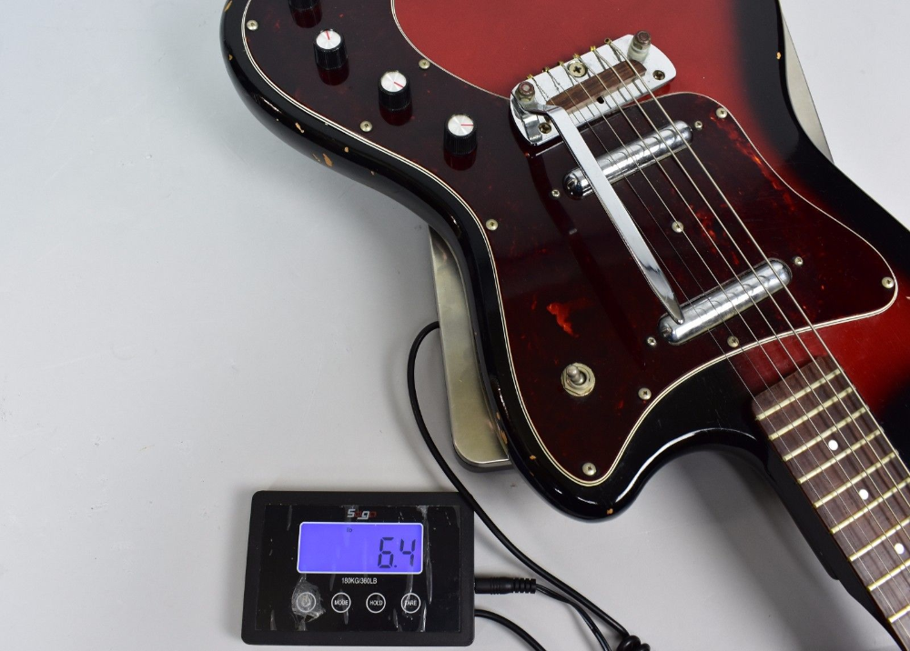 1960's Silvertone 1452 Danelectro Redburst Lipstick Pickup Electric Guitar #vintageguitars