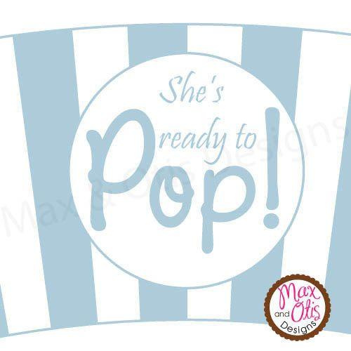 Shes Ready To Pop Printable Popcorn Cupcake Wrapper By Maxandotis