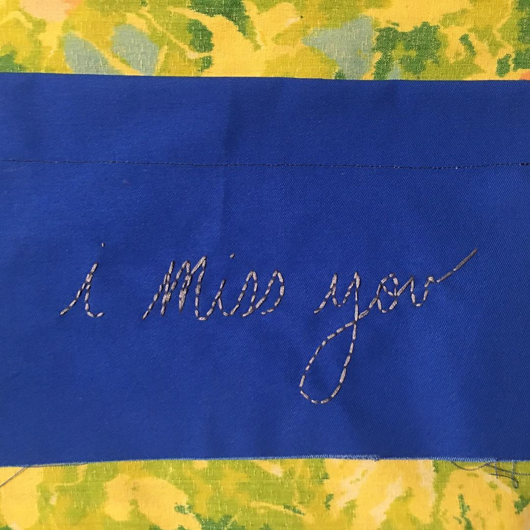 i miss you [Wall Hanging] Embroidery thread on canvas, 2019  #embroidery #instaartsy #handmade #wallhanging #heartache #imissyou #sewing #sewingismytherapy #art #artistsoninstagram #creative #crafts #summercamp #younglove #artoftheday #sewingaddict #embroideryart #breakupedits #artist #arttherapy #arttherapylife #missyou #imissu #breakup #artsy