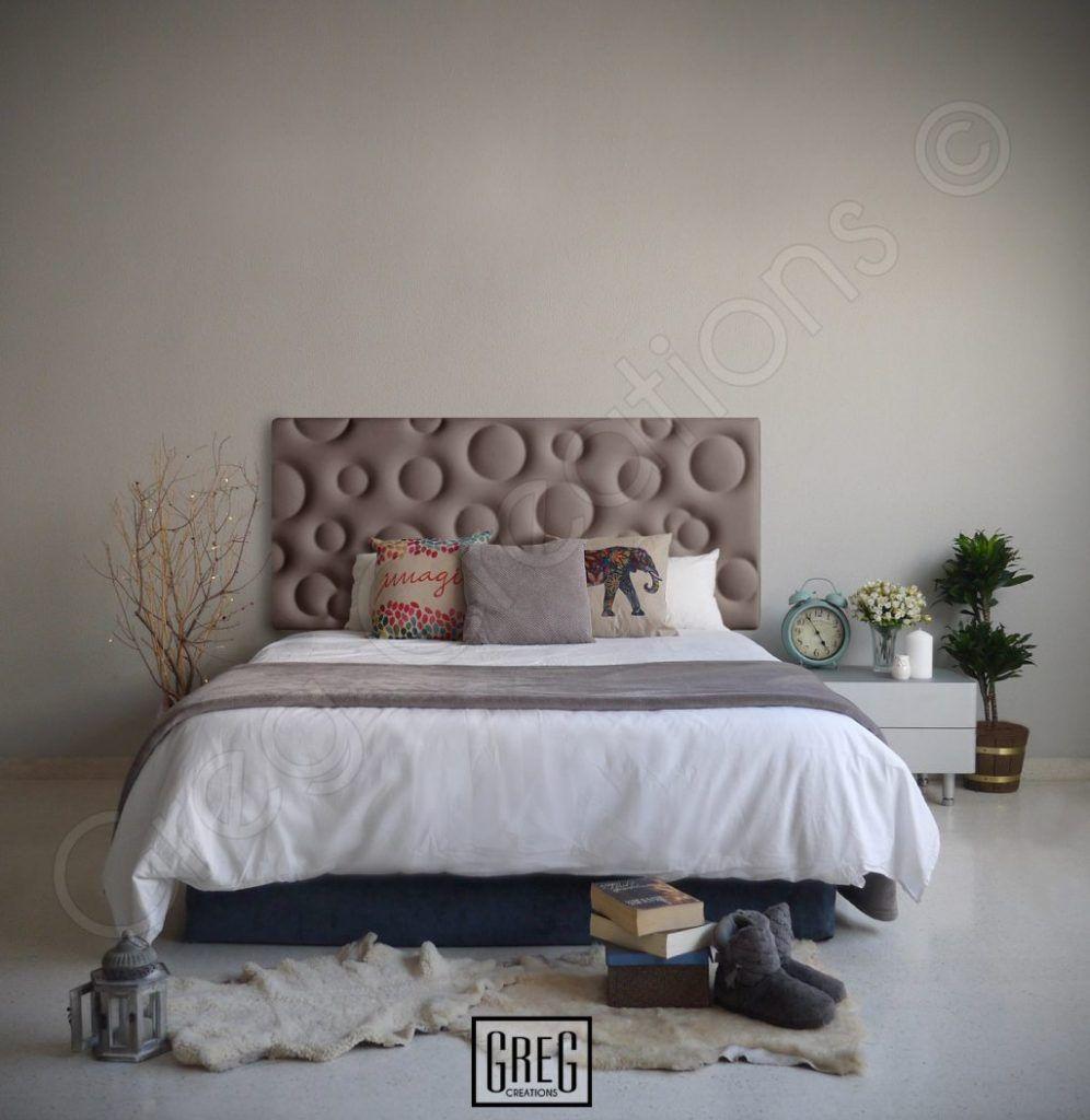 Dormitorio Con Cabecero De Cama De La Serie Bubble Tapizado En  ~ Cabecero Polipiel Marron Chocolate