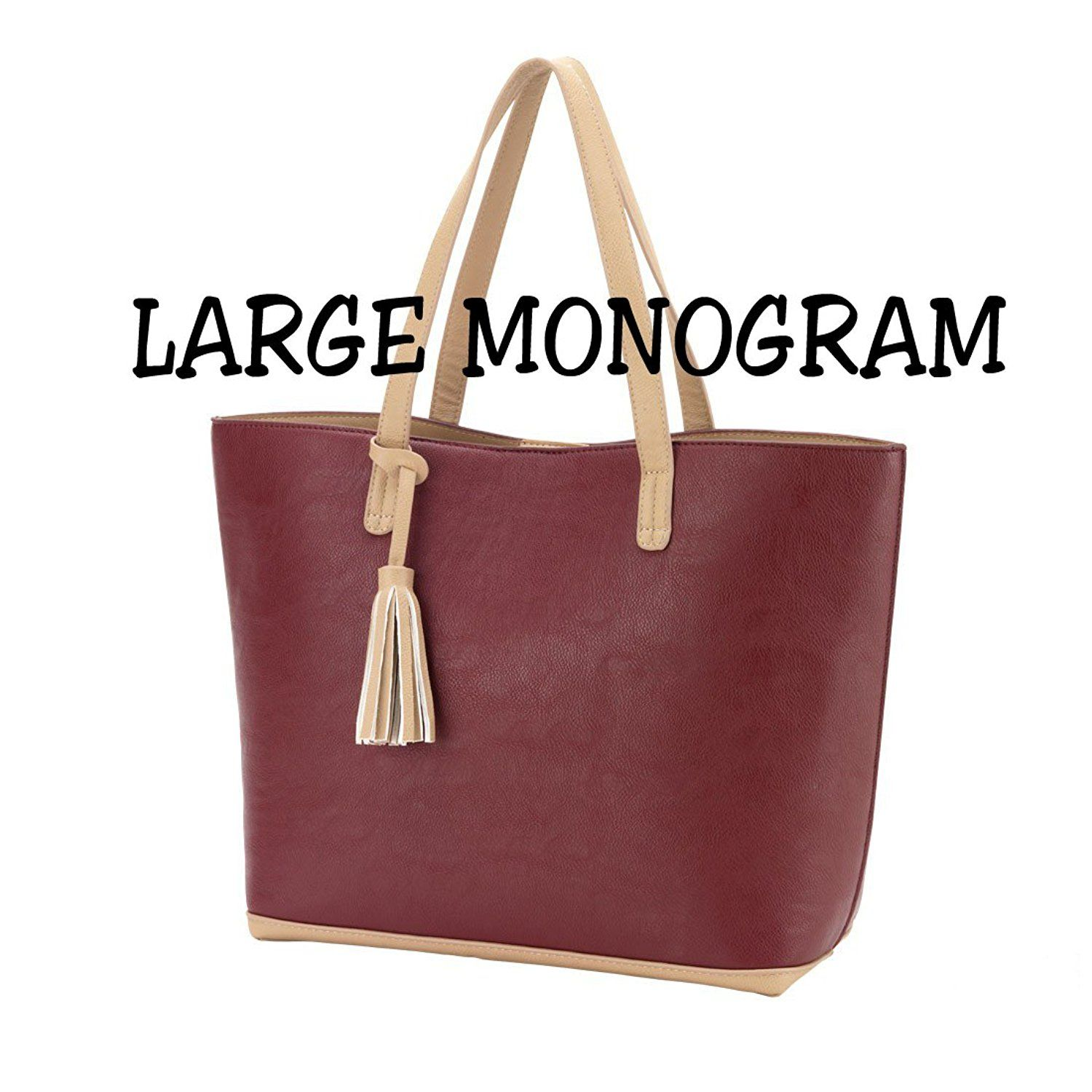 High Fashion Aubrey Tote Bag Purse Can Be Personalized Click Image For More Details This Is An Amazon Affiliate Link Tote Bag Purse Purses And Bags Bags