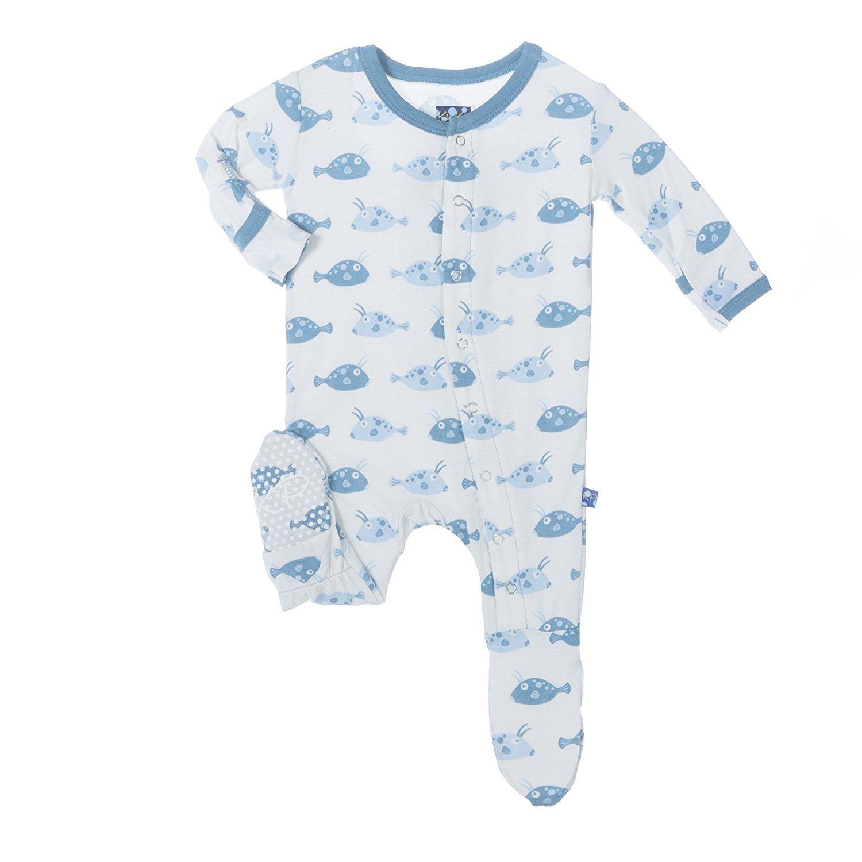 Amazon KicKee Pants Baby Boys Essentials Print Footie