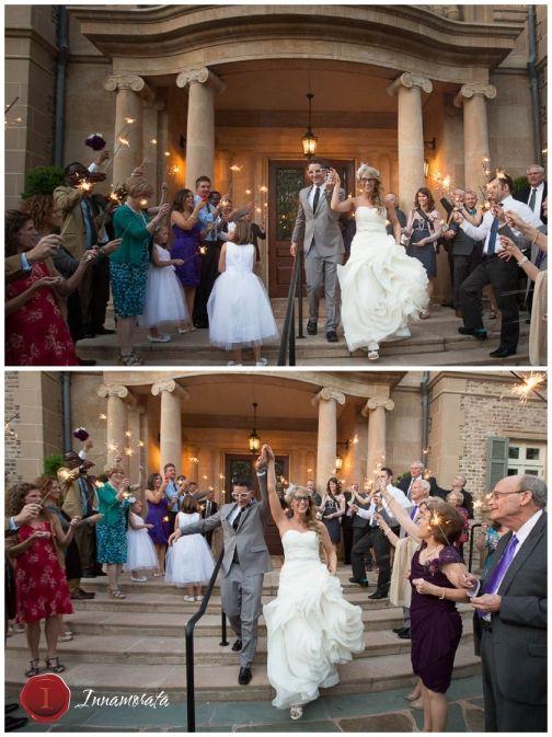 Arthur M Blank Family Foundation House Atlanta Georgia Wedding Photographer Sparkler Exit