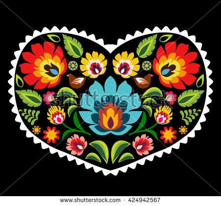 Polskie wzory ludowe, polski wzór łowicki, Łowicz, łowickie  Heart made of polish folk floral pattern elements vector  european, folk, art, wrapping, polish, isolated, greeting, decoration, square, green, floral, spring, ornament, embroidery, tattoo, flower, vector, culture, symbol, slav, poland, decor, old, card, ethnic, cutout, traditional, love, illustration, decorative, retro, tradition, design, color, slavic, invitation, romantic, heart, vintage, pattern, repetitive