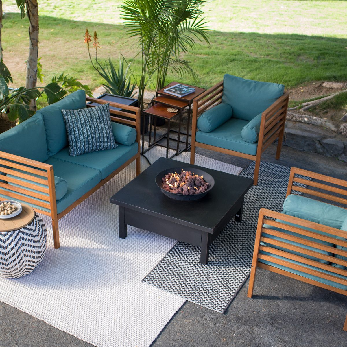 2020 Outdoor Furniture Ideas Trends Fire Pit Patio Set Wood