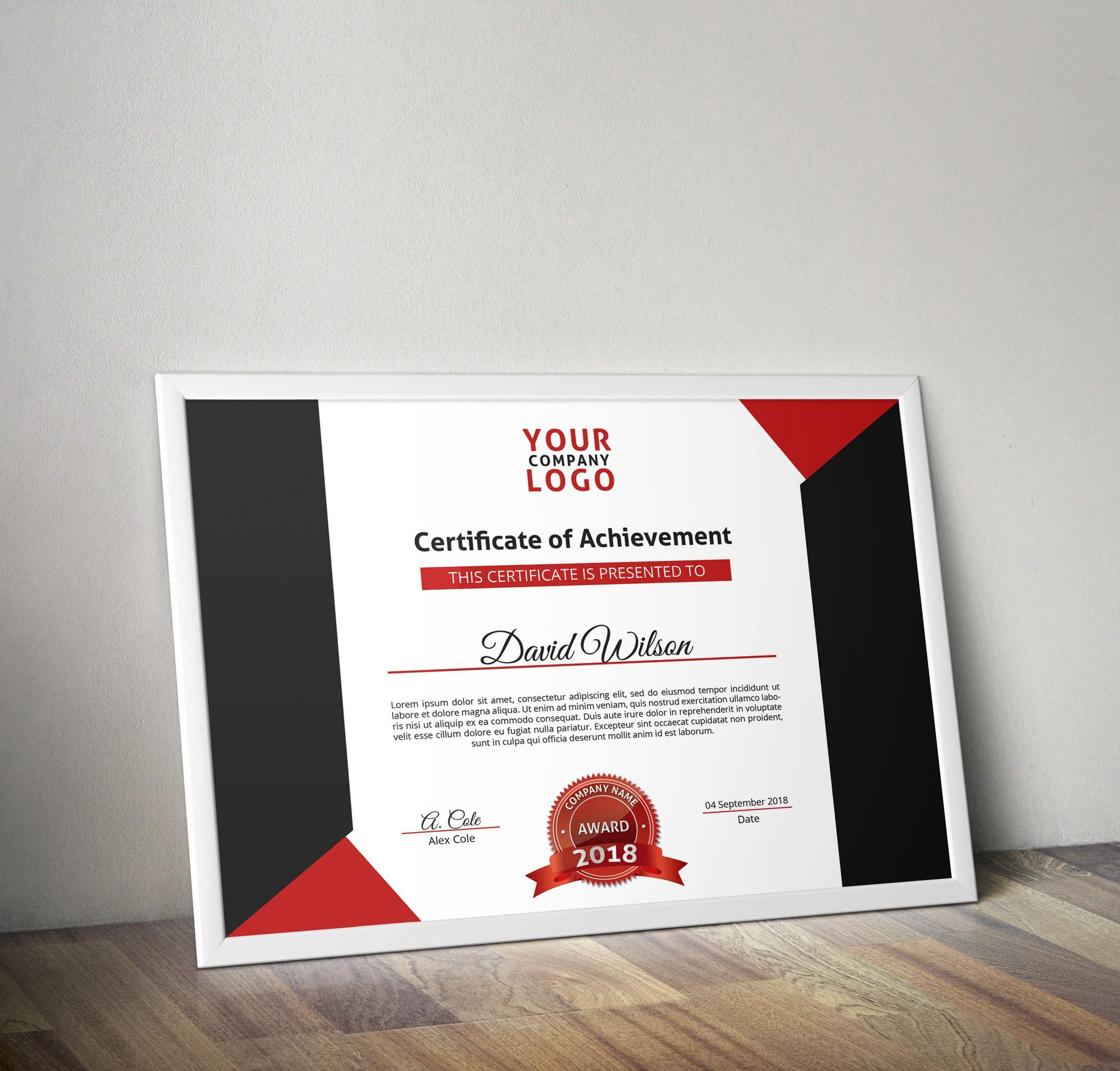 Multipurpose certificate psd template certificate template multipurpose certificate psd template certificate template certificate of achievement certificate of appreciation yadclub Images