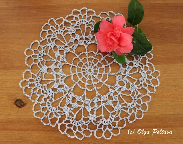 Very easy doily pattern. And yet, I managed to make a mistake! I ...