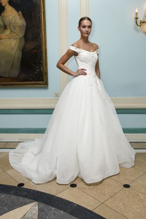 ae42cdba04a Off the shoulder ball gown wedding dress by Truly  zacposen