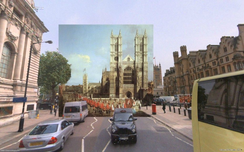 shystone classic paintings on google street view old paintings juxtaposed on