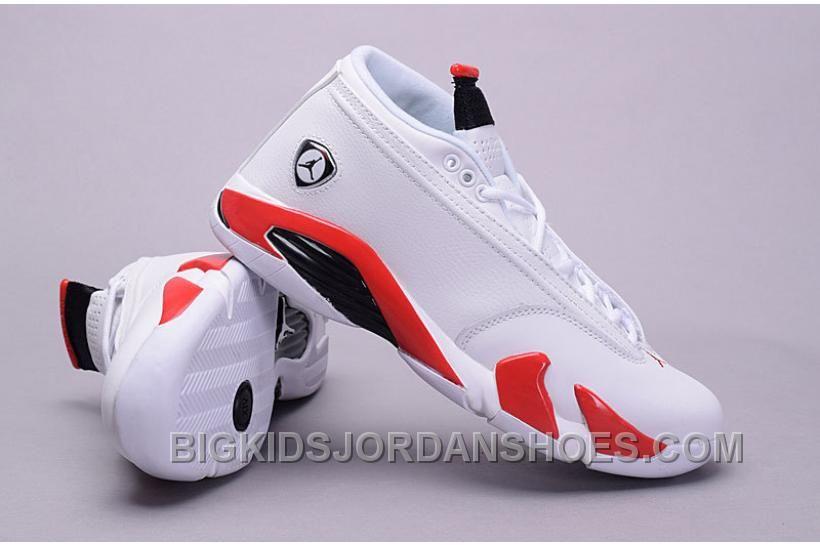 d4378566e34430 Air Jordan 14 Low Retro White Black Varsity Red 2016 Discount