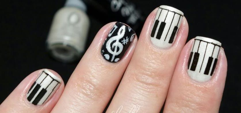 Piano Nail Design Nails Pinterest Crazy Nails Nail