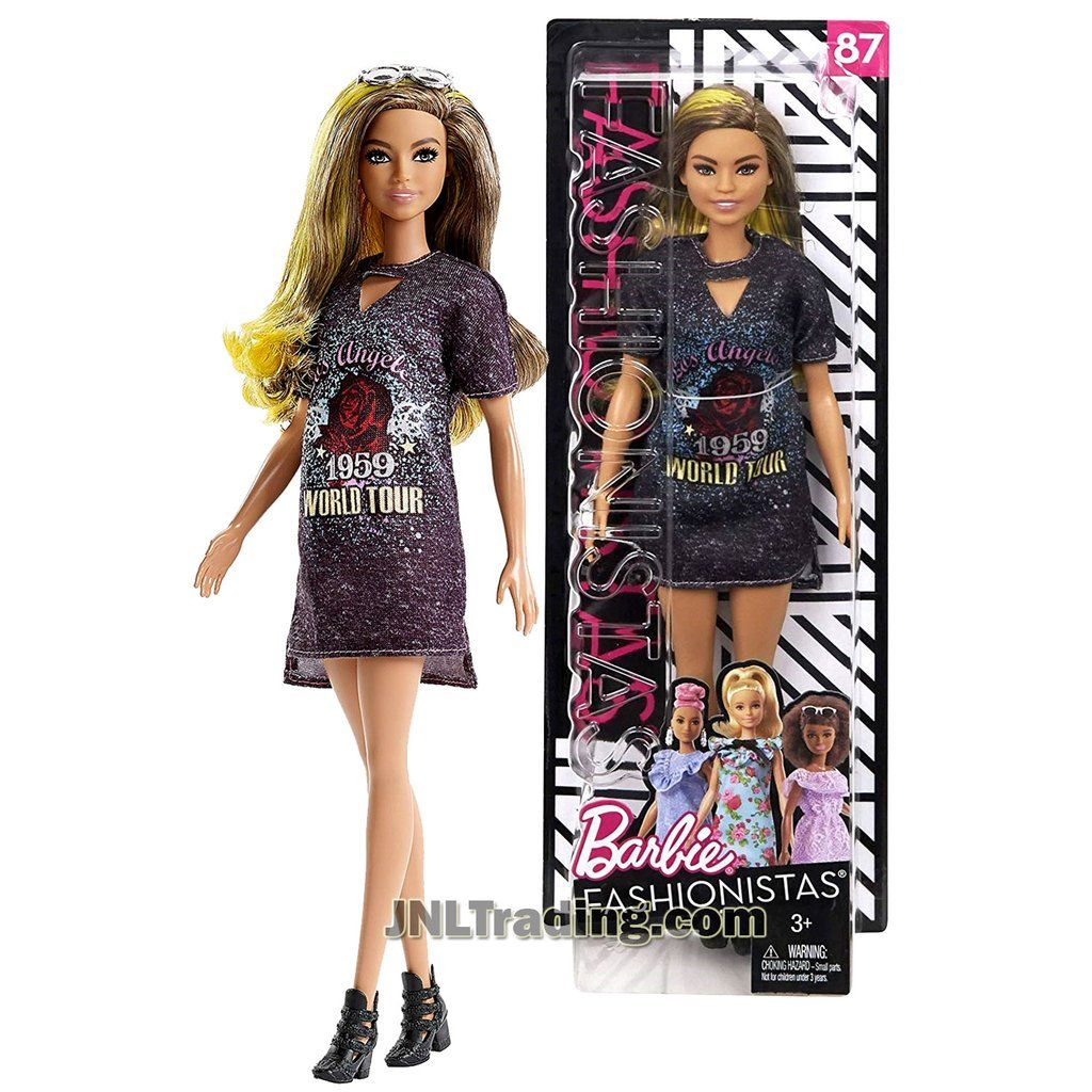 New Barbie Fashionistas 87 Doll in Los Angeles World Tour 1959 Dress