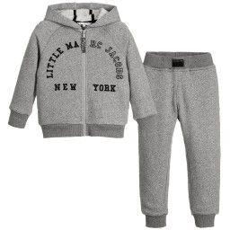 4d9e949e2 Little Marc Jacobs - Boys Grey Cotton Jersey Tracksuit ...