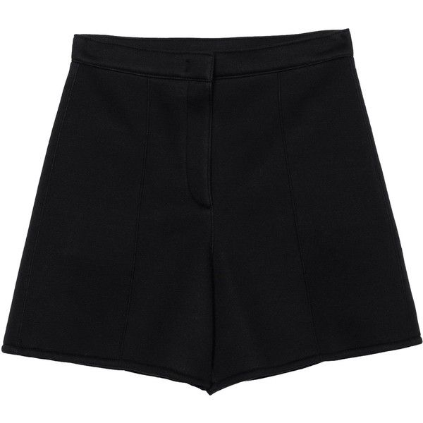 SONIA by SONIA RYKIEL Shorts (5.290 ARS) ❤ liked on Polyvore featuring shorts, bottoms, pants, black, zipper shorts, high-rise shorts, high-waisted shorts, high waisted zipper shorts and rayon shorts