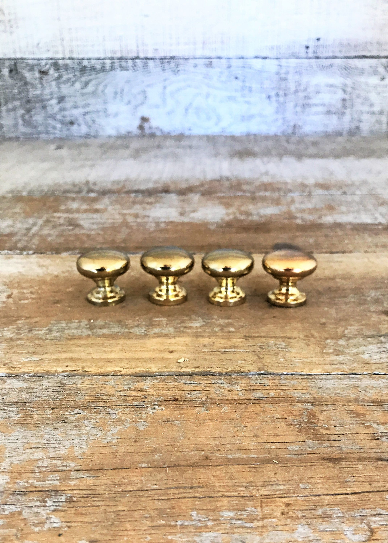 Drawer Knobs 4 Small Drawer Pulls Small Brass Knobs Dresser Knobs ...