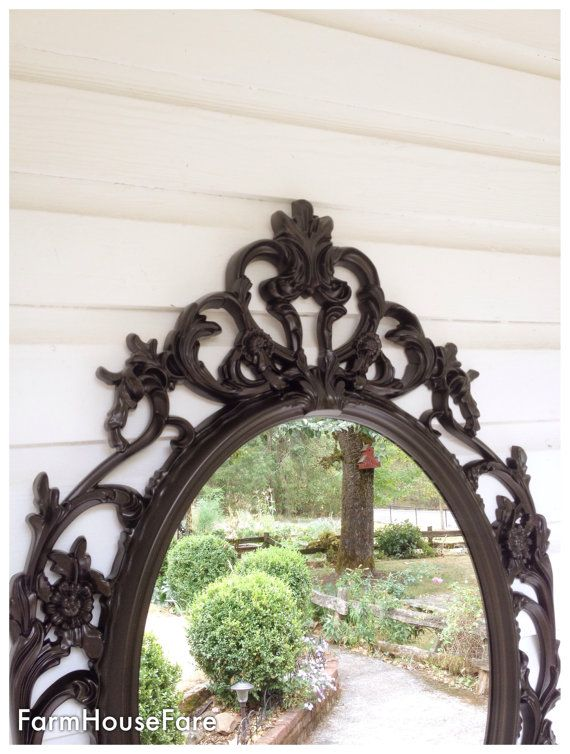 Barqoue Mirror, Oil Rubbed Bronze Bathroom Mirror Shabby Chic, Ornate Mirror,  Large Wall
