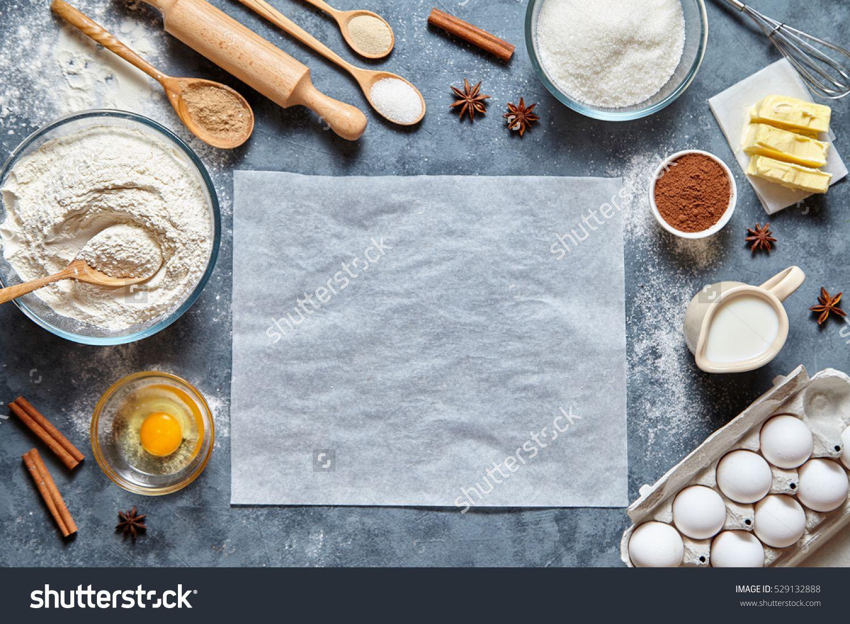 Dough Preparation Recipe Homemade Bread Pizza Or Pie Ingridients
