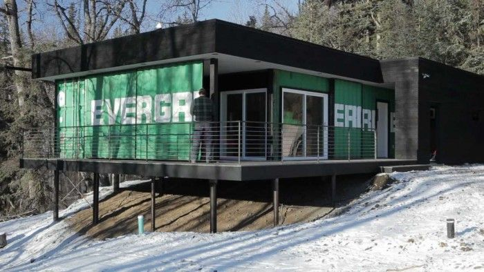Shipping Container Cabin In Alaska Off Grid Living Idea. Eco Friendly Home Ideas With Shipping Container. Stylishoms.com & Architecture. Shipping Container Cabin In Alaska Off Grid Living ...