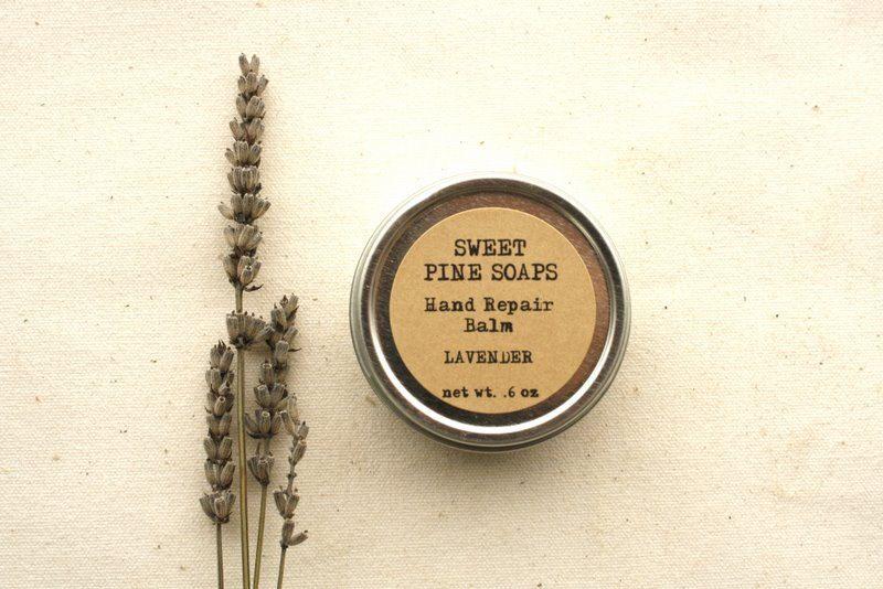 Lavender Hand Repair Balm // Solid Lotion Bar, moisturizer, hand lotion, balm, salve, lavender, Spring