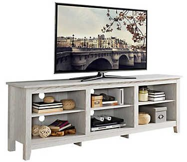 Hunter 70 Quot White Console Tv Stand With Storage Living