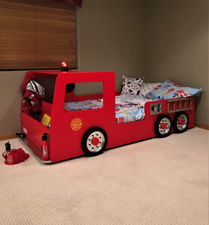 Fire Truck Bed PLANS (pdf format), Create a Fireman Themed