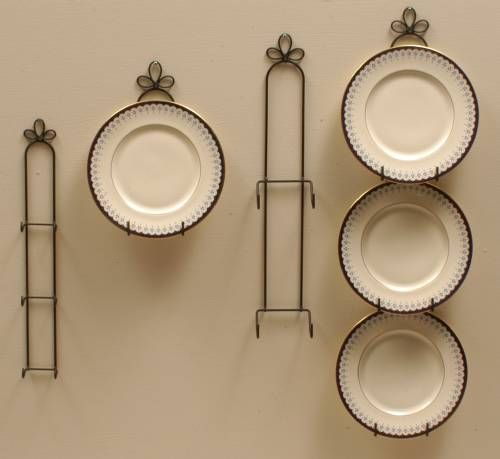 Wrought Iron Plate Hangers Vertical 9 10 1 2 Plates